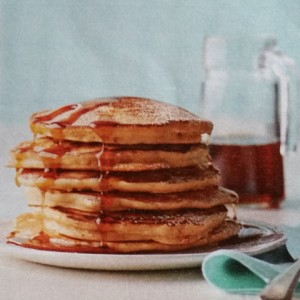 The picture is obviously the photo that came with the recipe. Do you seriously know how long it would take for me to stage a shot like that? Days…And I had to eat my pancakes before they got cold. Don't judge me.