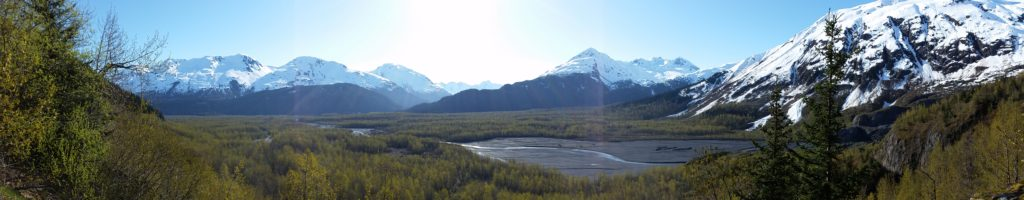 The view in Seward, Alaska.